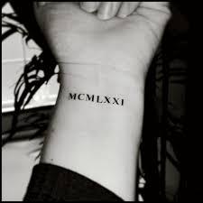 Roman Numeral Tattoos Custom Temporary Fake