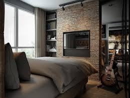 100 Brick Loft Apartments Three Dark Colored With Exposed Walls