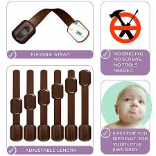 Childproof Cabinet Locks No Screws by Childproof Adjustable Safety Cabinet Locks U2013 Latches For Baby