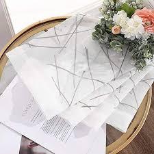 Schlafzimmer Vorhã Nge 2er Set H X B Miulee Sheer Vorhang Voile Blumen Stickerei