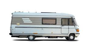 Download Motorhome Side View Isolated On White Stock Image