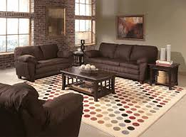 chocolate brown living room ideas white valance beige wooden