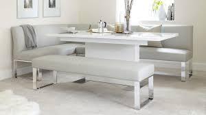 modern rectangular white gloss extending dining table uk