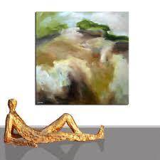 details zu gemälde kaufen bild kunst braun grosses format wohnzimmer gerahmt 120 x 120