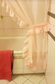duschvorhang mit rüschen set rosa in 12679 marzahn für 25