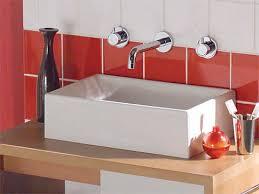 vasque à poser rectangulaire en céramique contemporaine
