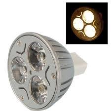 3 1w mr16 gu5 3 led light bulb 3w 12v warm white cp ebay