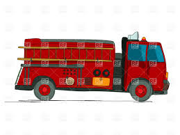 100 Fire Truck Clipart Side View Of Fire Truck Firefighting Vehicle Cartoon Sketch