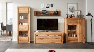 interliving wohnzimmer serie 2003 wohnwand geölte asteiche vierteilig breite ca 342 cm