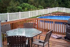 Above Ground Pool Deck Images by Above Ground Pool Deck Build A Deck Free Landscaping Ideas Cost