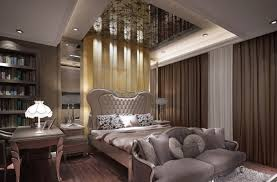 Great Inspiring Elegant Bedroom Interior Design With Nice Ceiling Art By Bedrooms