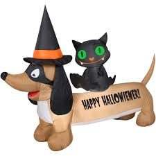 Airblown Inflatable Halloween Yard Decorations by Airblown Dachshund Halloween Decoration Walmart Com