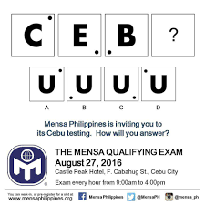 The Next Mensa Qualifying Exam Will Be in Cebu – Mensa Philippines