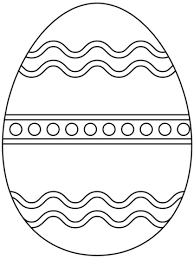 Click To See Printable Version Of Plain Easter Egg Coloring Page