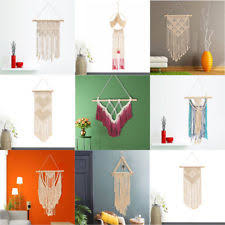 23X WOVEN HAND KNITTED WALL HANGING TASSEL MACRAME TAPESTRY BOHEMIAN DECOR STRIC