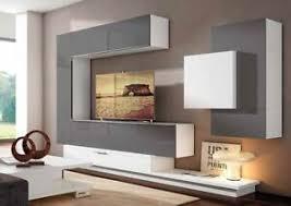 details zu moderne anbauwand wohnwand best 34 auswahl viel stauraum tv schrank