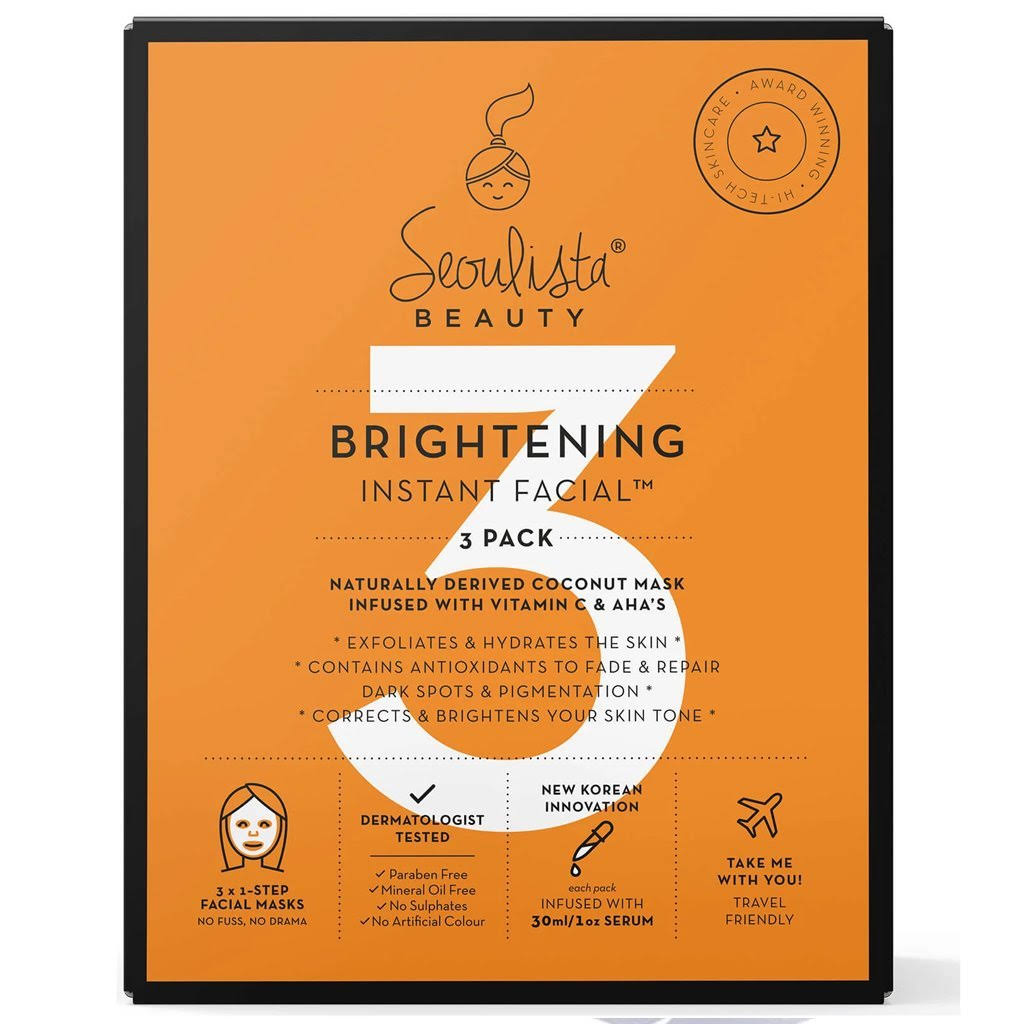 Seoulista Beauty Brightening Instant Facial - 3-Pack
