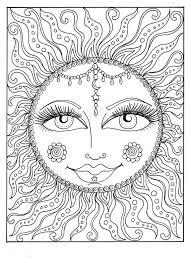 Instant Download SUN Summer Coloring Page Adult To Color