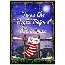 personalised twas the night before christmas book from mollie