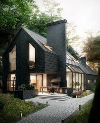 100 Scandinavian Design Houses Antony Polyvianyi On Behance Work Visualization House
