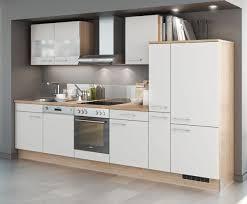 einbauküche mankasolar 3 weiß matt sonomaeiche küchenzeile 310 cm mit e geräte