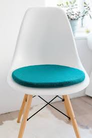 sitzkissen für eames chair in petrol etsy eames