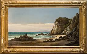 100 Santa Barbara Butterfly Beach Ford Henry Chapman Montecito Oil On Canvas