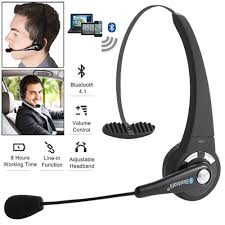 Wireless Handsfree Bluetooth Noise Cancelling Boom Mic Headset For Truck  Driver   EBay 14hr Working Time Bluetooth Headphones Truck Driver Yamay Wireless Headset Over The Head Handfree Office Call Center Noise Cancelling Mic Bh M10b Boom Mono Multi Point Music Headphone Hands Free With Noise Concelling For Phones Tabletin Earphones Victal Mpow Match Your Smart Life Extremerebatebluetooth V42 Canceling Headsets Drivers Amazonca Earpiece Calling