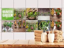 grazdesign 770498 10x10 fs40st fliesenaufkleber set kräuter aus dem garten für küche alte küchen fliesen überkleben fliesenbild selbst gestalten