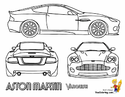 Aston Martin Vanquish Car Coloring At YesColoring