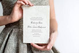 Hellotenfold Lima Letterpress Neutral Wedding Invitation Modern