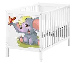 set möbelaufkleber für ikea sundvik bett schlafzimmer kinderzimmer elefant baby kat2 schmetterling süß su2 aufkleber möbelfolie sticker ohne