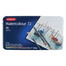 Derwent Watercolor Pencil 72 Color Tin Set