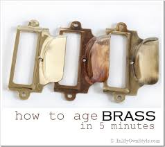 how to age brass in less than 5 minutes in my own style