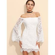 online get cheap white lace bell sleeve dress aliexpress com