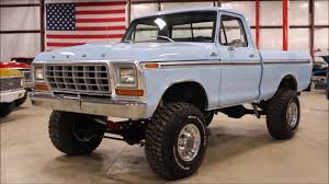100 1978 Ford Truck For Sale F150 Light Blue YouTube