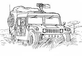 Click To See Printable Version Of Army Hummer Coloring Page