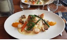cuisine de la lotte suggestion du chef lotte st jacques moules risotto mousseline de