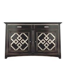 anrichte in schwarz antik über kirschholz mit goldenen details sideboard design für wohnzimmer esszimmer flur schrank in schwarz antik