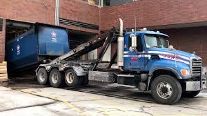 100 Roll Off Truck Republic Services 3449 Mack Granite Galbreath Off YouTube