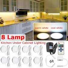 Dimmable Under Cabinet Lighting Kitchen LED Puck Lights Kit