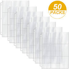450 Pockets Card Binder Pages 3 Ring Binder Sheets Trading Card Sleeves  Protectors, Standard Size