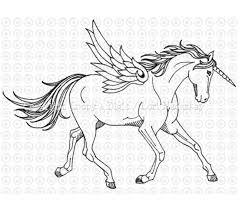 Unicorn Pictures To Color Free Download
