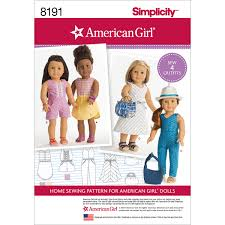 Simplicity American Girl Doll Clothes For 18 DollOne Size PATTERN