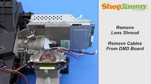 mitsubishi dlp tv repair removing dmd chip from light engine