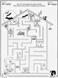 Halloween Mad Libs For 3rd Grade by Printable Halloween Maze Coloring Pages Coloring Bludiště