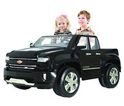 Amazon.com: Rollplay 12V Chevy Silverado Truck Ride On Toy, Battery ...