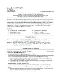 Project Manager Resume Sample For Unforgettable Technical Examples To