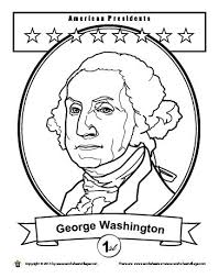 George Washington Coloring Pages Printable 3 President Free