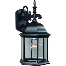 volume lighting 1 light black outdoor wall sconce v8120 5 the